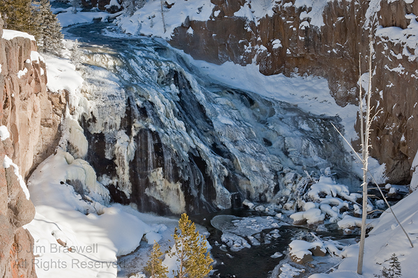 Yellowstone's Firehole River in winter