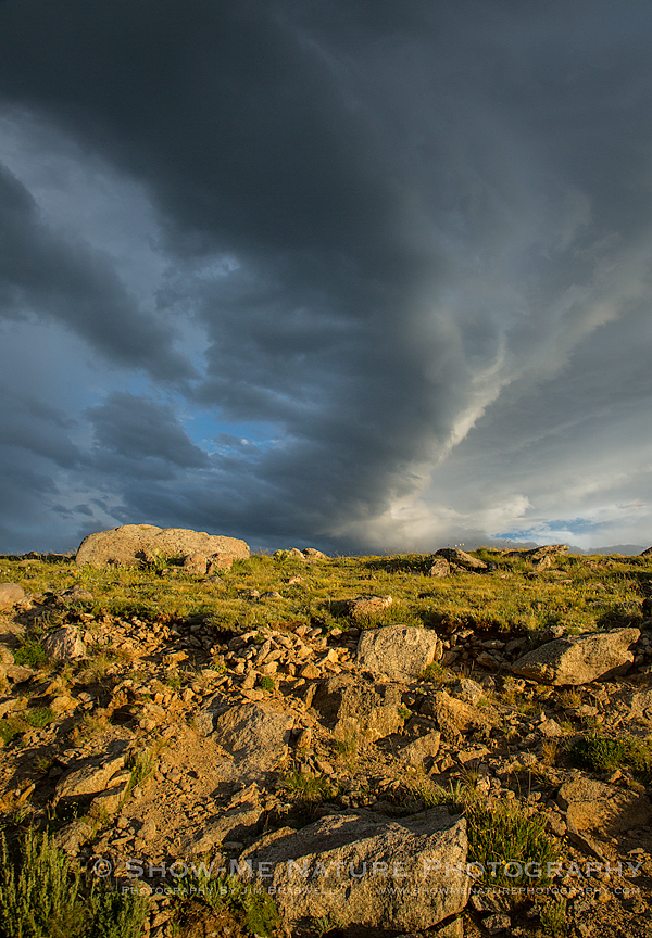 Changing weather over Mt. Evans