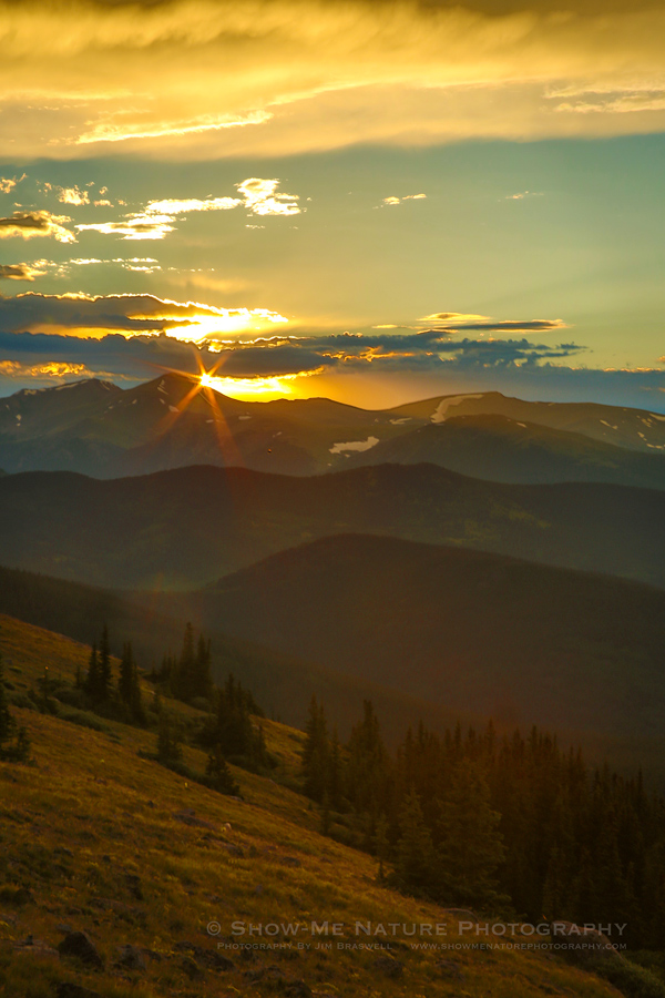 Sunset on Mount Evans