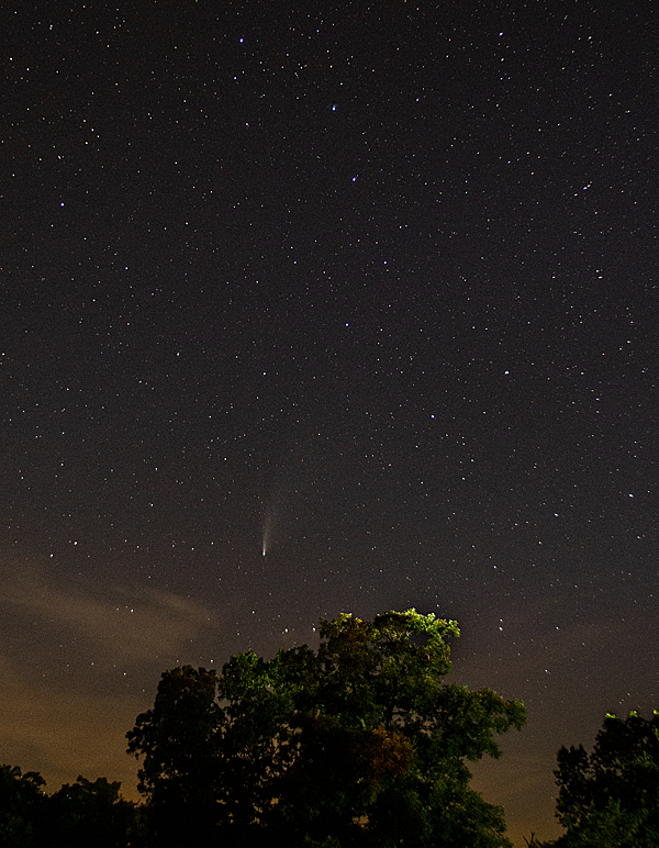 Comet NEOWISE over West Lake Christian Church
