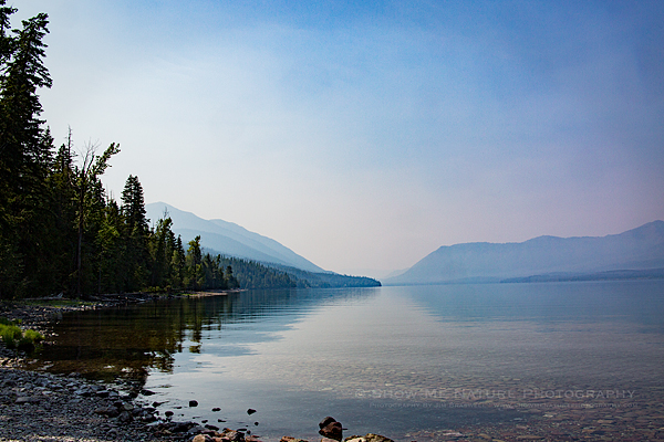 Hazy Lake McDonald