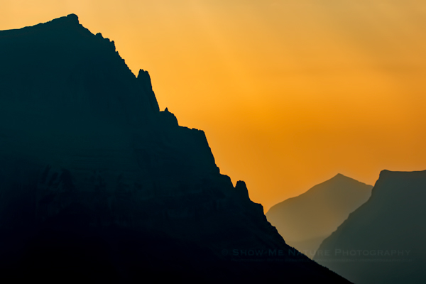 Sunrise over Logan Pass, Glacier NP (Montana)