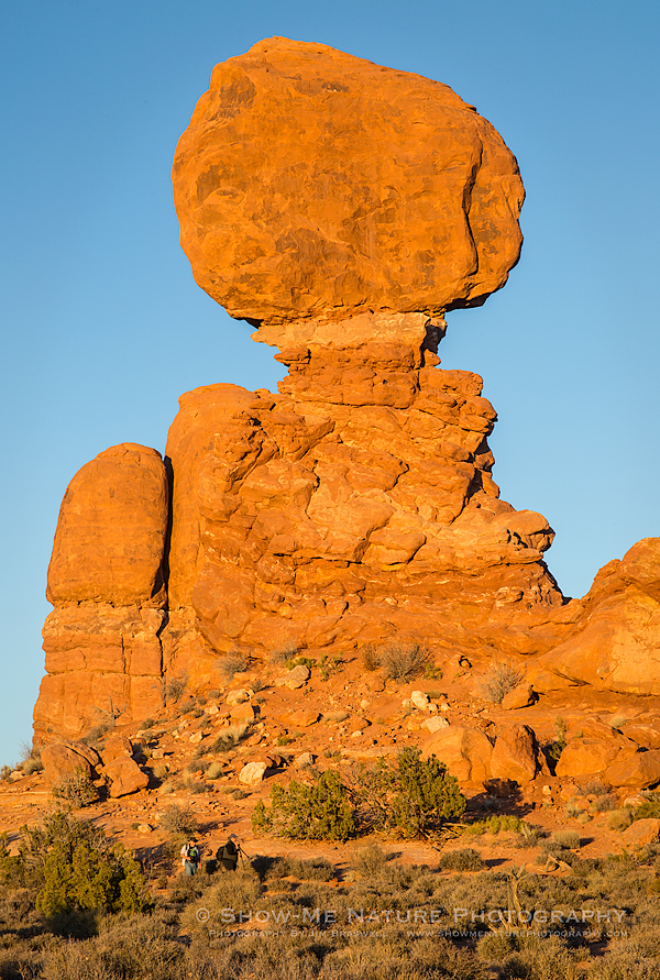 Balanced Rock as sunset nears