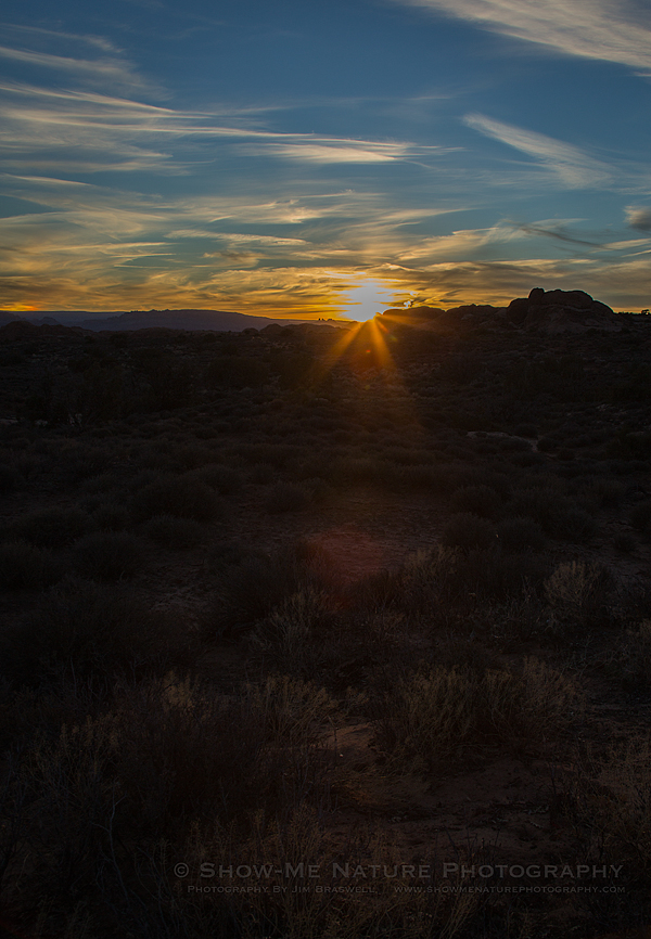Sunset at Balanced Rock