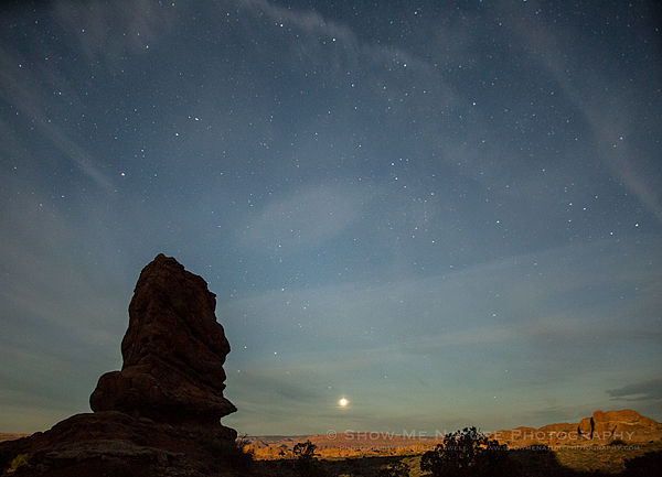 Star Points and a setting planet at Balanced Rock