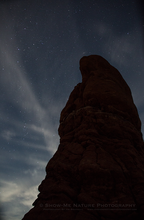 Star Points over Balanced Rock