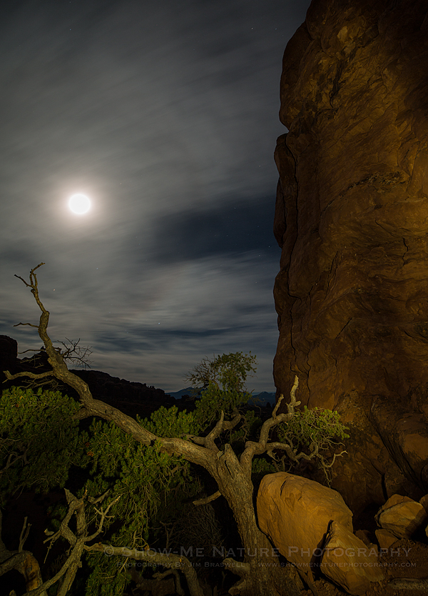 Super-moon at Balanced Rock