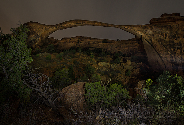 Landscape Arch at night