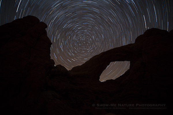 Star Trails over and through the North Window