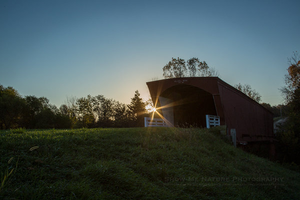 Sunrise at the Holliwell Covered Bridge