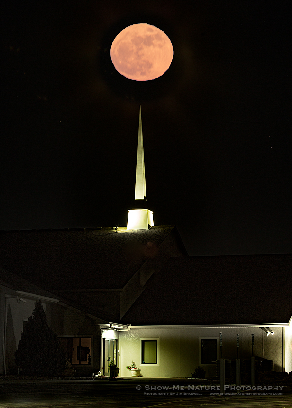 Super Moon over Cornerstone Community Church
