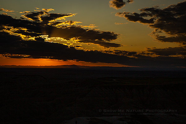 Sunset over the Badlands NP