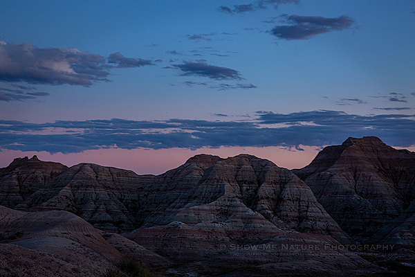 Transitioning into Night at the Badlands
