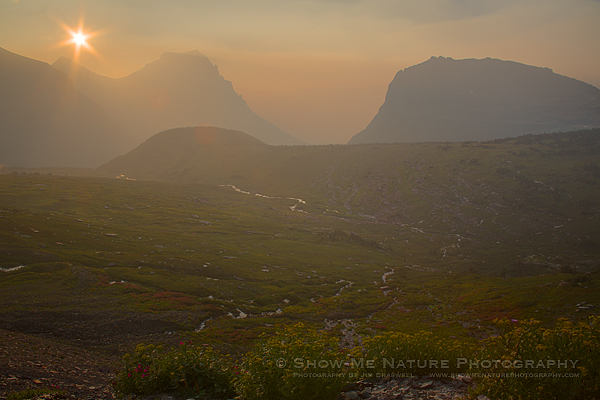 Sunrise Over Logan Pass