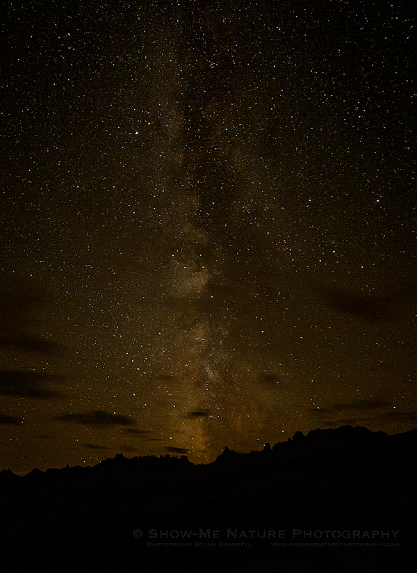Milky Way in the Badlands
