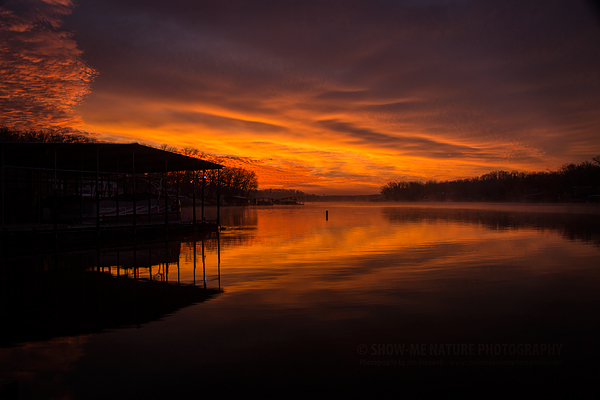Sunrise over Lake of the Ozarks