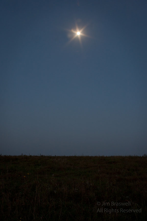 Early morning Moon over the Prairie